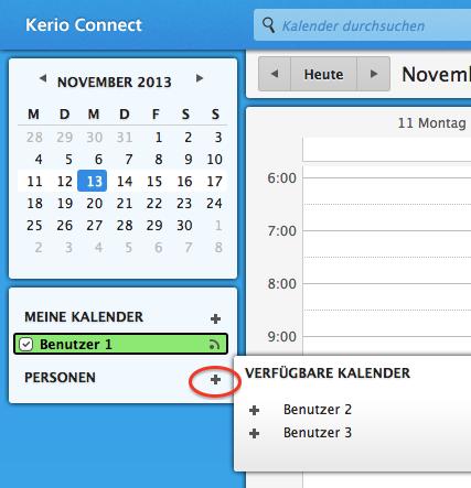 Hinzufügen der Kalender